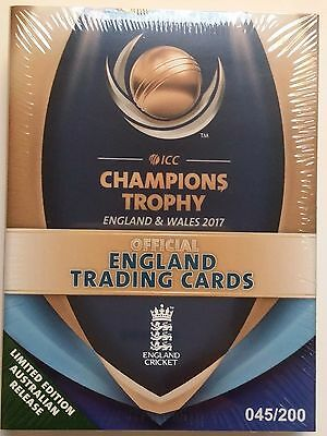 ENGLAND CRICKET TEAM - ICC 2017 Champions Trophy Team Set - Trading Cards