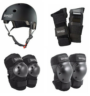 Seven Skates 4 Pack Protective Gear Helmet - Knee Elbow, Wrist Guards