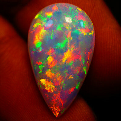 6.95 Ct Rolling Flash ! Exclusive Flashy Multi Color Welo Cabochon Opal-Sl64