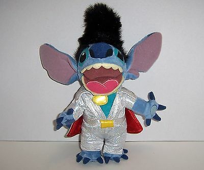 "RARE Walt Disney World LILO & STITCH ELVIS PLUSH 12"" BEAN BAG. New W/ Tags"