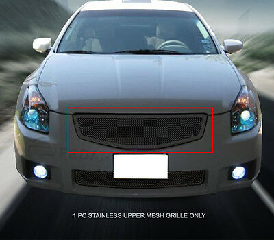 Black Front Main Upper Formed Mesh Grille Insert For Nissan Maxima 2007-2008