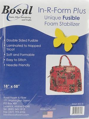 "Bosal In-R-Form Plus Fusible Foam Stabilizer 58"" x 19.5"" (147 x 50cm) HALF Met."