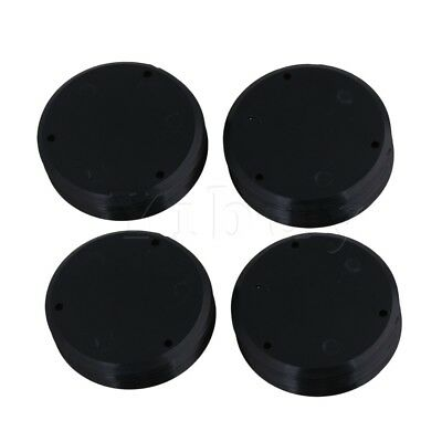 20 Pieces Toggle Switch Pickup Selector Plates Black for Guitar 53.6mm Dia