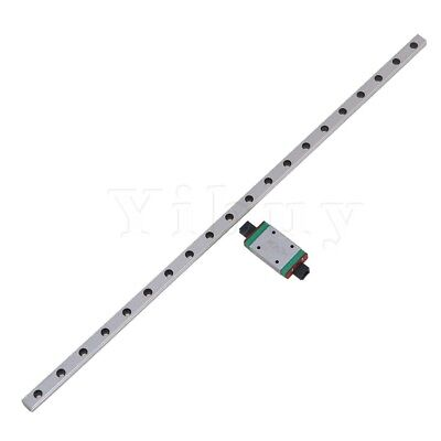 Silver 300x7x4.7mm MGN7 Linear Guide Bearing Slide Rails with Sliding Block Set