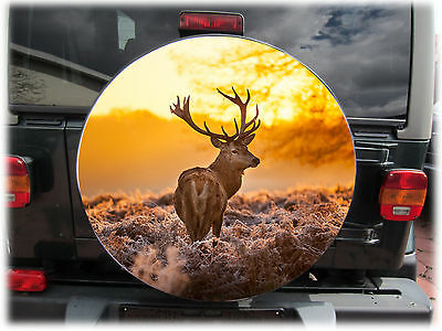 "DEER 4x4 SPARE WHEEL TIRE COVER 28"" for Honda Suzuki VW Ford MB Caravan Trailer"