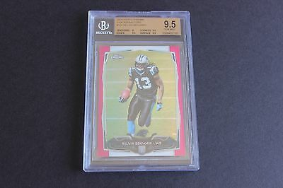 Kelvin Benjamin BGS 9.5 2014 Topps Chrome ROOKIE CARD RC SP #/399 PINK non auto