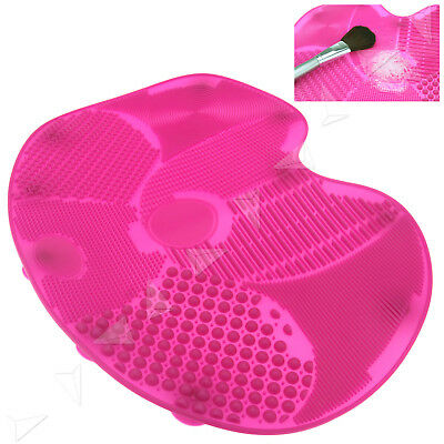 Cosmetic Brush Scrubber Board Clean Tool Cleaner Washing Mat Silicone Pad Pink