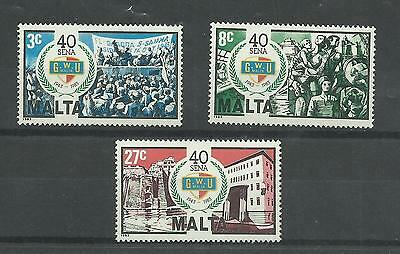 MALTA 1983  40th Anniversary of General Workers Union   umm / mnh set