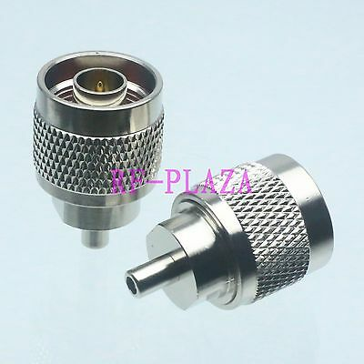 1pce Adapter N male plug to SSMB female jack straight RF COAXIAL