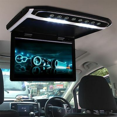 12.1 Inch Car Ceiling Roof Mounted Monitor Flip Down TFT LCD Monitor Player Top~