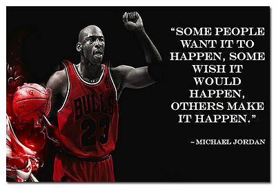 09904 Why I succeed Michael Jordan Motivational Quote Poster