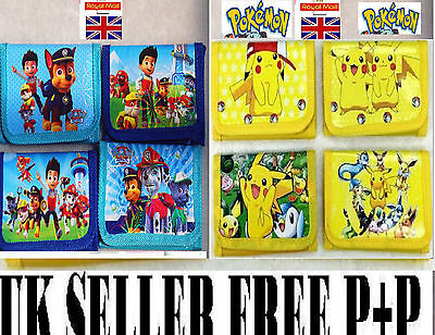 Kids Paw Patrol Boys Girls wallets Character wallet,coin purse,gift,Toy,Pokemon