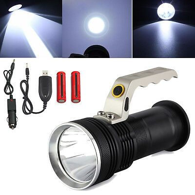 CREE XM-L T6 LED Inspection Flashlight Torch Handheld Rechargeable Clip Lamp