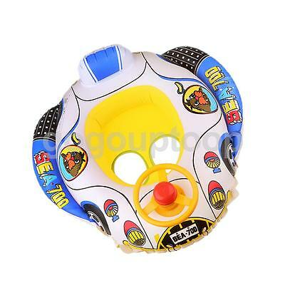 Cute Kids Baby Inflatable Swimming Pool Raft Floating Seat Boat Ring Toy