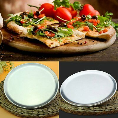 Aluminium Round Pizza Tray Plate Bake Pan Kitchen Cookware 8/9/10/12/14/16/18''