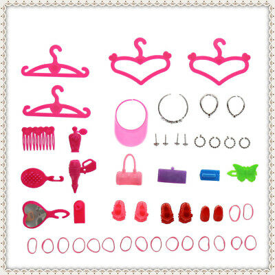42pcs Accessories Supplies for Barbie Doll Girls Birthday Christmas Presents