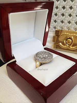 Antique Ladies 2.21 Carats Diamond Cluster Baguette 9ct Gold Ring Size O/7 £2995