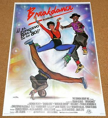 BREAKDANCE Original Movie Poster HIP HOP RAPPIN BODY POPPIN BREAK DANCE BREAKIN