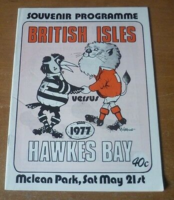1977 - Hawkes Bay v British Lions, Touring Match Programme.