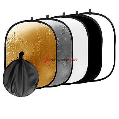 90x120cm 5 in 1 Photography Photo Studio Collapsible Multi Light Reflector+Case