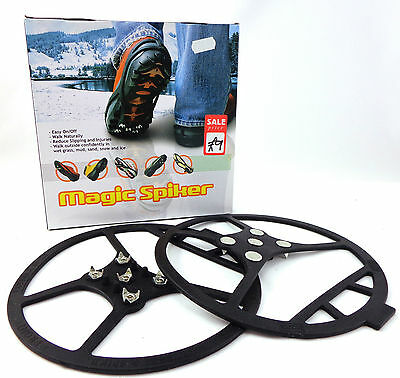 MAGIC SPIKER SHOE GRIPS Large 40 - 44 for Ice and Snow BNIB