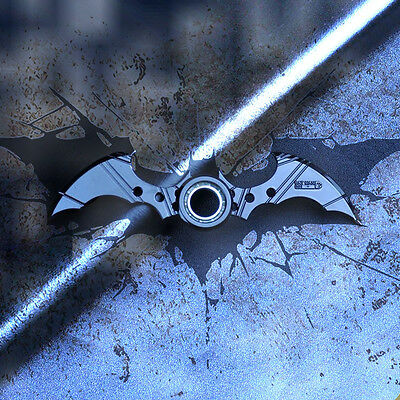 Batman Batarang Shape Fidget Tri Ring Spinner EDC Autism Anxiety ADHD Kids Toy