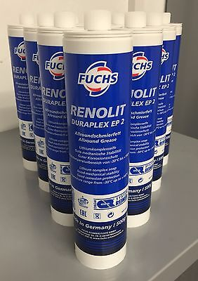Fuchs Renolit Duraplex EP2 Grease Cartridge 500g x 10