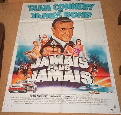 NEVER SAY NEVER AGAIN Orig JAMES BOND Movie Poster SEAN CONNERY BARBARA CARRERA