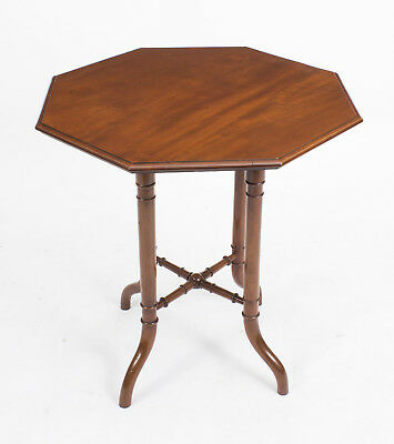 Antique Victorian Mahogany Octagonal Occasional Table c.1860