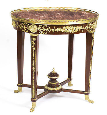 French Empire Revival Rouge Marble Top Ormolu Mounted Occasional Centre Table