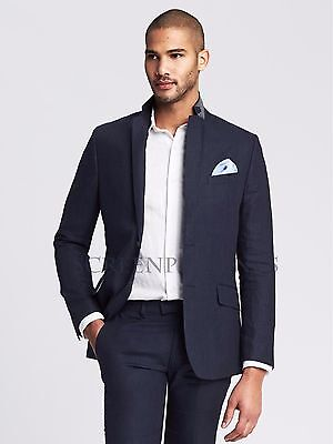 NWT Banana Republic Men's Modern Slim Navy Linen Suit Jacket - Multiple Sizes!