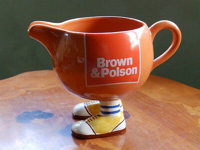 Carlton walking ware Brown & Polson jug on feet