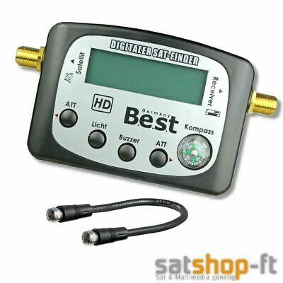 Digitaler HD SAT-Finder LCD BEST Germany DIGITAL SAT-Anlage ausrichten Satfinder