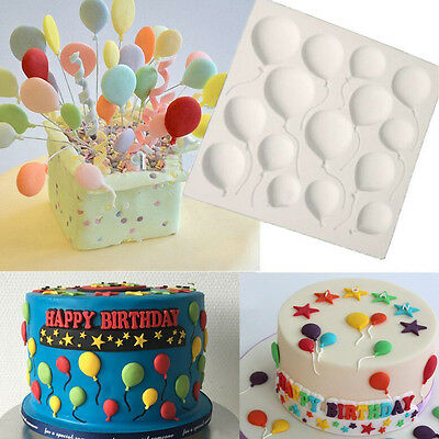 Silicone Balloon Fondant Cake Sugarcraft Chocolate Decorating Mold Baking Form