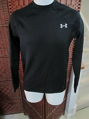 Men 39 s under armour run long sleeve fitted shirt size small for Do under armour shirts run small