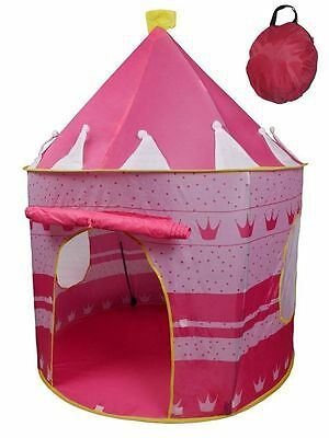 Pink Pop up Play Tent Castle Playhouse Kid Girls Children Outdoor/Indoor Game UK