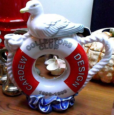 RED life belt life saver cardew teapot seagull lid COLLECTORS CLUB PIECE