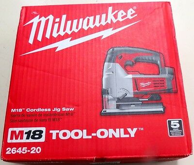 New in Box  Milwaukee M18 Cordless Jig Saw TOOL ONLY 2645-20