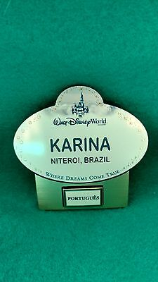 Walt Disney World Cast Member Language Name Tag ( Karina)
