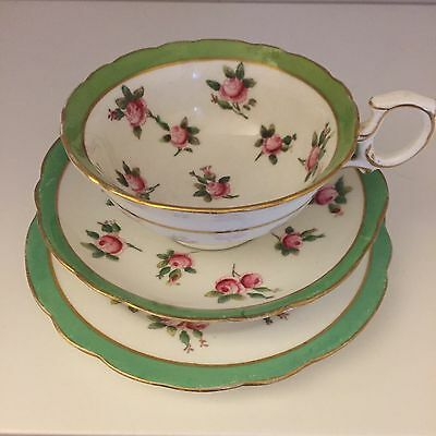 Antique Hammersley Rosebud Pattern Trio
