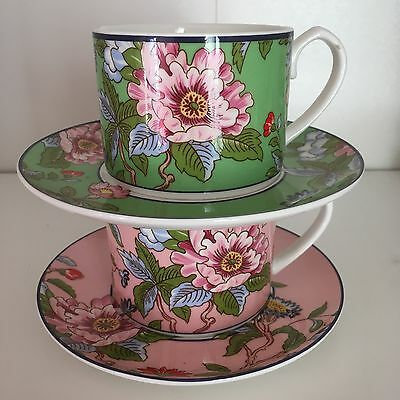 Aynsley Set Of 2 Regal Pembroke Cups And Saucers