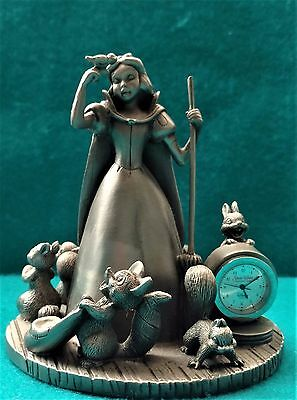 Walt Disney's Snow White Limited Edition Pewter Figurine and Clock