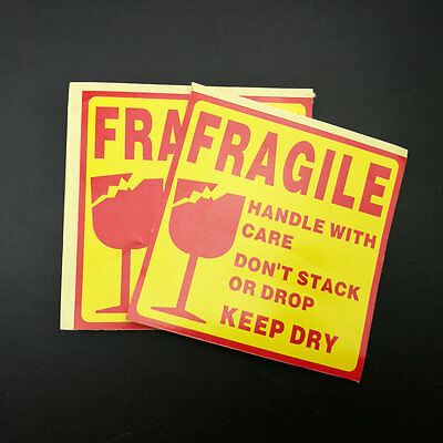 """50PCS 4"""" x 4"""" Handle With Care Fragile Label Sticker ,keep dry packing sticker"""