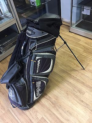 Ping Mantis Golf Bag With Flipdown Stand * Good Condition * Lightweight