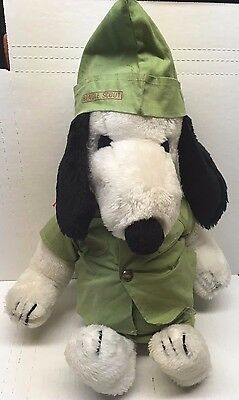 Vintage 1968 Big Plush SNOOPY Peanuts Beagle Scout Stuffed Complete 20 inches