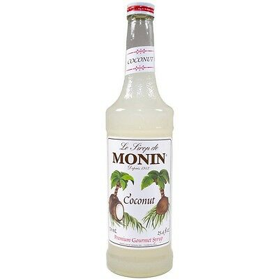 MONIN Coffee Syrup COCONUT 25 CL - Ideal size for trying this great flavour!