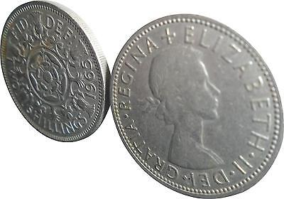 USED Elizabeth Two Shilling Coin - 1965 (D.T)