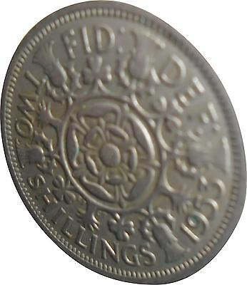 USED Elizabeth Two Shilling Coin - 1952 (D.T)