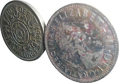 USED Elizabeth Two Shilling Coin - 1961 (D.T)