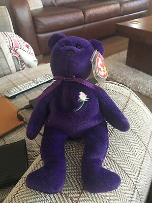 Sale Ultra Rare 1997 TY Princess Diana Beanie Bear Baby Pvc Pellets. 1st Edition